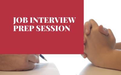 Job Interview Prep Session