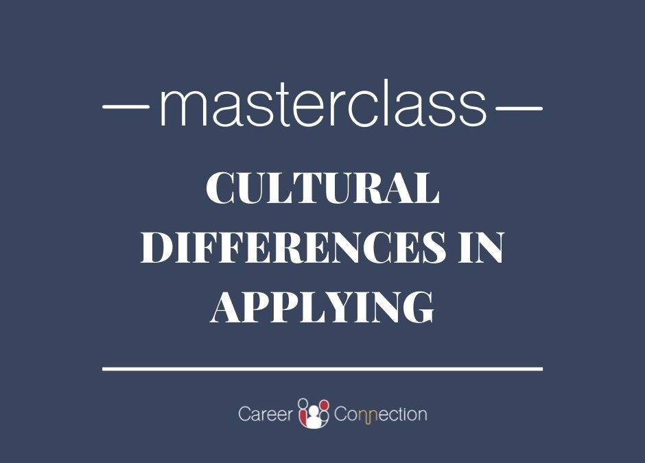 MasterClass – Cultural differences of applying